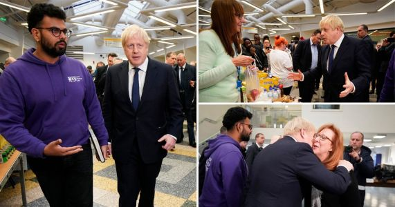 Boris visits Bolton in aftermath of blaze after fire crews slam government cuts