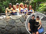 Marla Maples visits Central Park Zoo with daughter Tiffany Trump and her boyfriend Michael