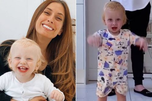 Stacey Solomon shares video of her one year old son Rex walking