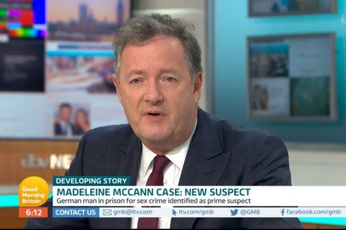 Piers Morgan slams trolls targeting Madeleine McCann's parents over new suspect