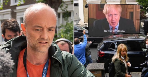 'Stay at home' billboard appears outside Dominic Cummings' London home