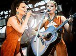 Kacey Musgraves rocks a unique orange dress while performing at the second weekend of Coachella