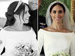 Meghan Markle shows off in veil-free wedding photo with Prince Harry