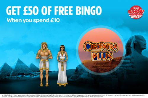 Cleopatra plus slots: How to play popular game with Sun Bingo