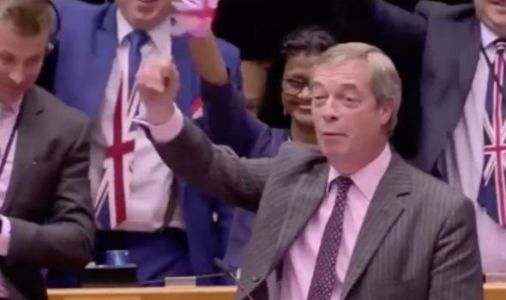 'Put your flags away and take them with you!' Farage cut off as Brexit Party spark EU fury