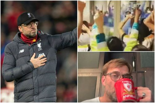 Jurgen Klopp's tears as hospital workers sing You'll Never Walk Alone together
