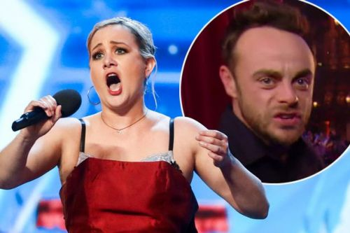Ant McPartlin cringes as cake-guzzling opera singer STRIPS inches away from him - but Amanda Holden thinks she's perfect for the Royal Wedding in Britain's Got Talent