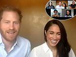 Prince Harry and Meghan Markle join a video call to discuss justice and equal rights