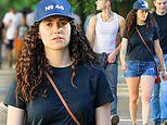 Emmy Rossum looks fit and healthy as she's spotted for the first time since welcoming a baby