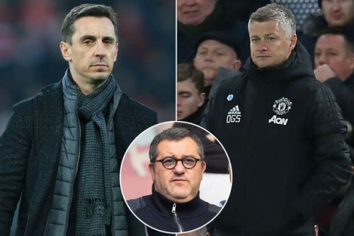 Gary Neville wades in on Mino Raiola and Ole Gunnar Solskjaer row over Paul Pogba