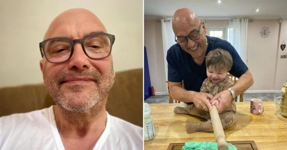 Gregg Wallace gets a little help in the kitchen from 11-month-old son, Sid