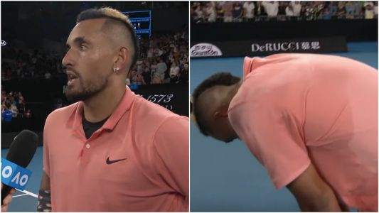 Nick Kyrgios won the longest match of his career, then said he was thinking about 'getting some food or something'