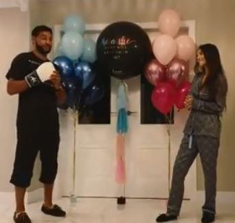 Amir Khan and wife Faryal having a third child - with boxer punching a balloon to reveal its a boy