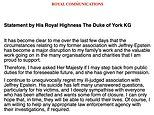 Duke of York is to step back from public duties