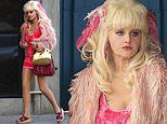 Emmy Rossum continues her amazing transformation into 80s Los Angeles icon Angelyne for mini series