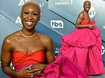 SAG Awards: Cynthia Erivo catches the eye in an elaborate pink and orange puffball gown