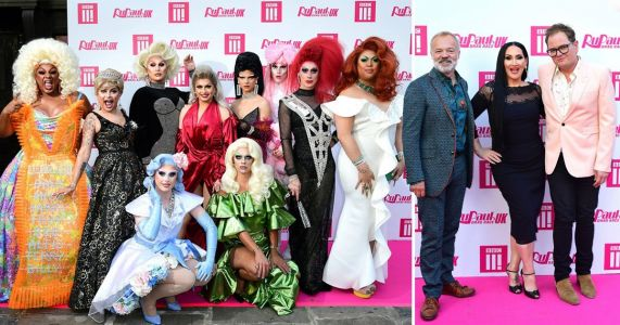 Graham Norton, Alan Carr and Michelle Visage sashay the red carpet at RuPaul's Drag Race UK premiere