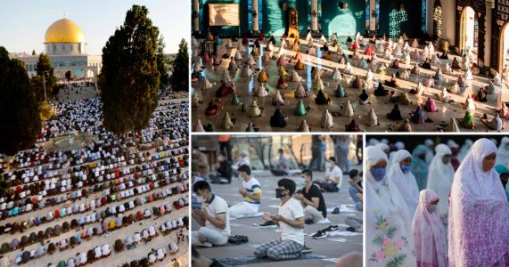 Muslims celebrate Eid with socially distanced gatherings worldwide