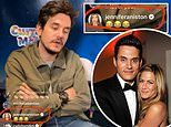 Jennifer Aniston laughs at ex John Mayer's comment that only four percent of what he says is useful