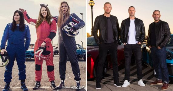 Top Gear presenters have 'never looked so good' as they morph into women