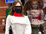 Victoria Beckham'squirky white dress draws comparisons to horror movie doll Annabelle