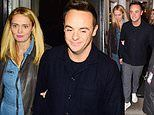Ant McPartlin links arms with girlfriend Anne-Marie Corbett as they leave BGT auditions