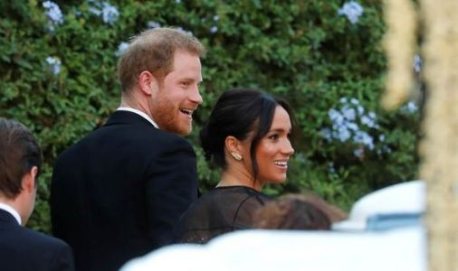 Meghan and Prince Harry rush home from wedding bash for baby Archie