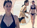 Courteney Cox shows off her beach body in a bikini as she celebrates her 55th birthday with friends
