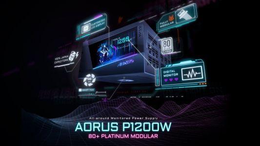 Gigabyte's New 1200W Aorus Power Supply Has a Built-In Display