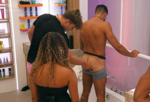 Love Island's Tommy Fury joins bum-shaving club as Curtis Pritchard takes friendship to next level