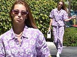 Whitney Port is a vision in purple as she steps out for juice run in LA
