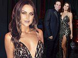 Lala Kent, 28, dazzles in a sequin gown alongside fiance Randall Emmett, 47, at engagement party