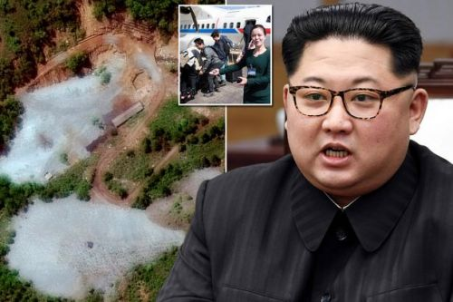 'Huge explosion' as North Korea begins demolishing nuclear test site ahead of showdown talks with Donald Trump