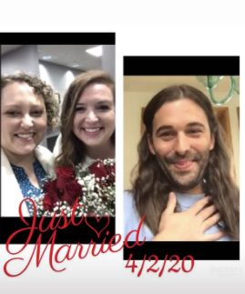 Queer Eye star Jonathan Van Ness officiates couple's wedding via FaceTime while quarantined