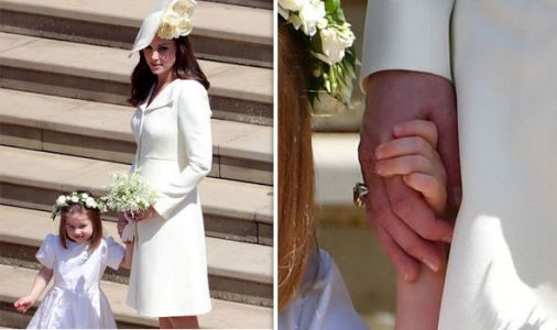 Prince William gave Kate a push present? Duchess sports huge citrine ring at Royal Wedding