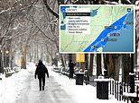 Winter storm to dump three inches of snow and bring freezing temperatures to northeast by Wednesday