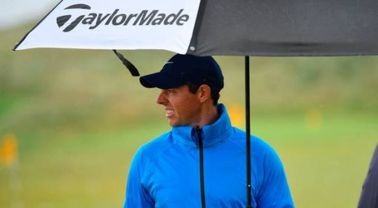 The Open: Rory McIlroy and Tiger Woods complete final practice on wet Wednesday at Royal Portrush