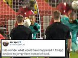 Thiago accused of 'ducking out the way of Bruno Fernandes' match-winning free-kick'