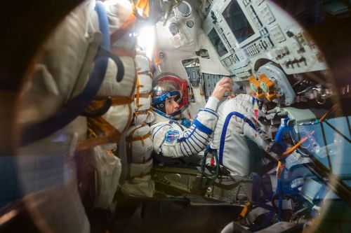Station crew to clear new port for second Soyuz docking attempt