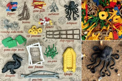 Lego washes up on UK beach 20 years after 5million pieces spill from cargo ship