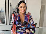 Terry Biviano, 45, busts out of a very low-cut mini dress