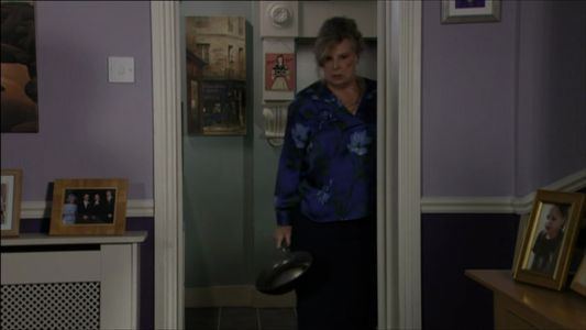 EastEnders fans cheer as Cora reenacts Pauline Fowler's iconic frying pan scene