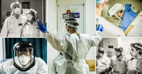 Doctor photographs hospital's critical care unit during the pandemic