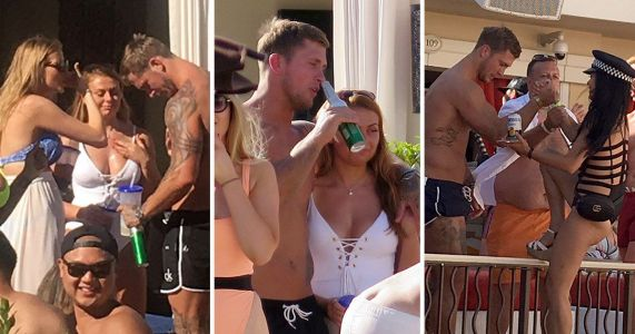 Sin City: Dan Osborne forgets marriage woes as he parties on stag do in Las Vegas