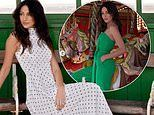 Michelle Keegan wows in a polka-dot dress and green jumpsuit as she models Very range