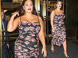 Ashley Graham makes pregnancy look easy as she struts around NY in bodycon dress and heels with ease
