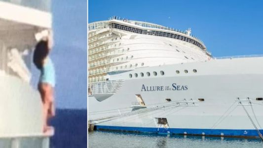 Idiotic woman kicked off cruise after climbing over balcony of huge ship to take selfie