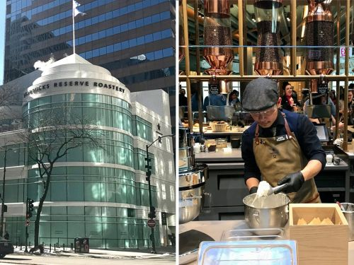 Inside the world's biggest Starbucks, a magical 'coffee theme park' with five floors