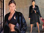 Irina Shayk serves up a smoldering look in a crop top in snaps taken by her ex Bradley Cooper