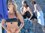 Kate Moss, 45, joins her beau Count Nikolai Von Bismarck, 32, in Italy